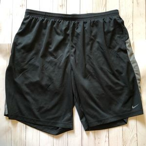 Nike Mesh Black Gray Stripe Workout Short XXL